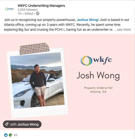 WKFC LinkedIn Post
