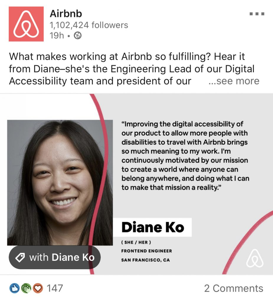 airbnb employee quote post
