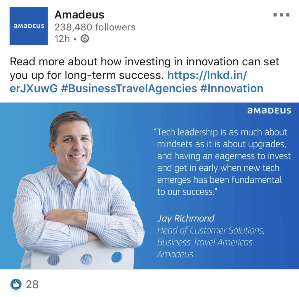 amadeus jay linkedin example