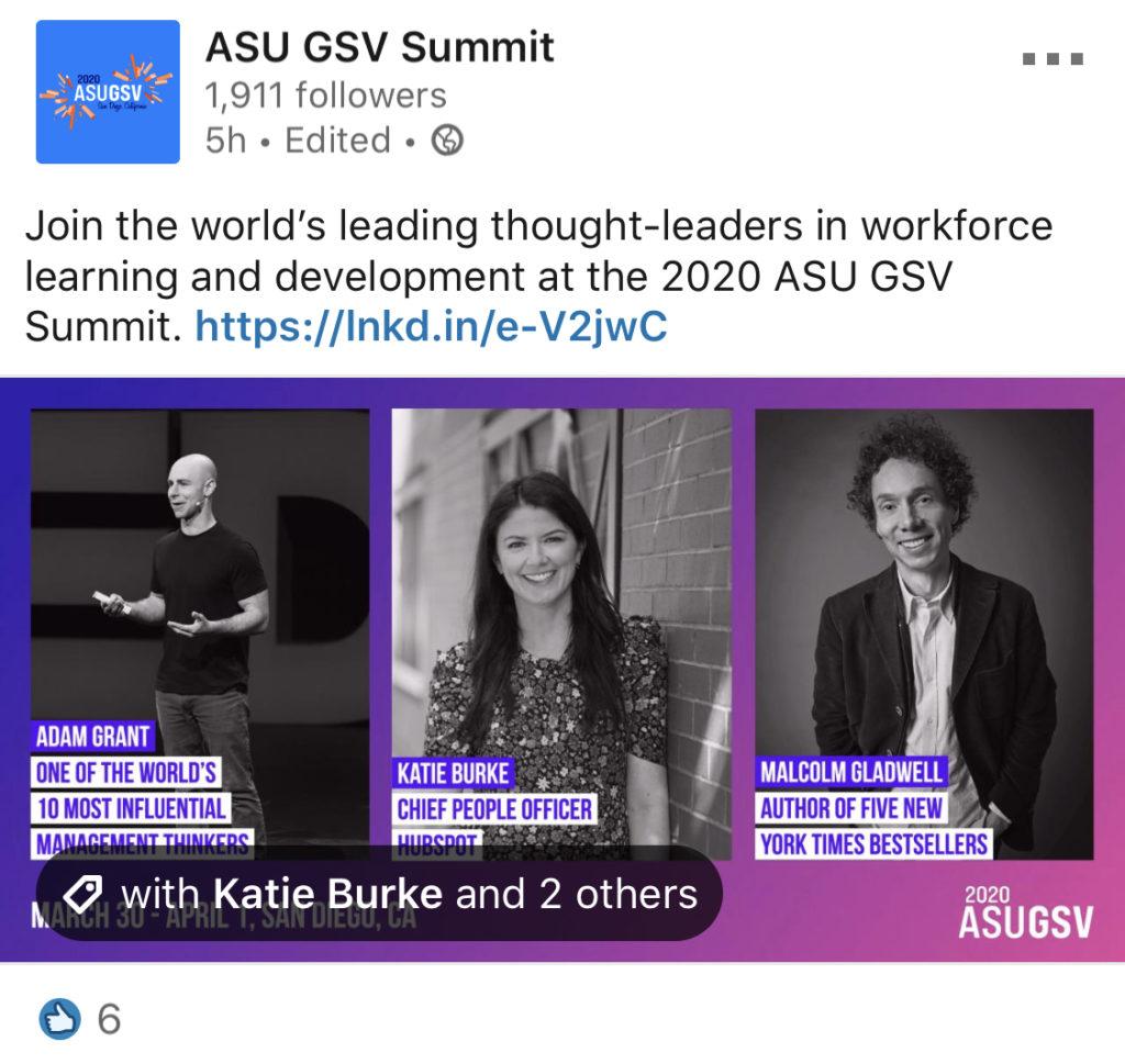 ASU GSV Summit LinkedIn Employee Spotlight Inspiration