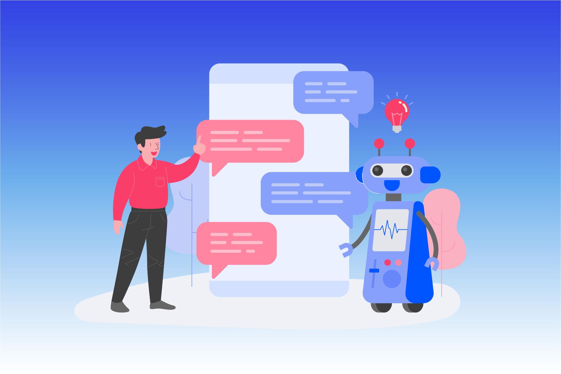 chatbot flat illustration