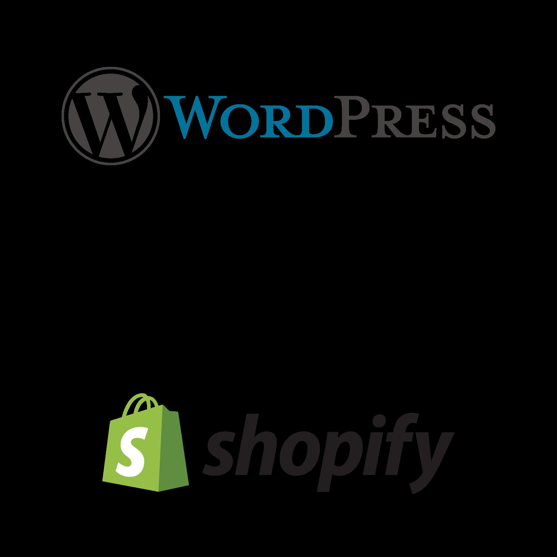 wordpress squarespace shopify cms platforms