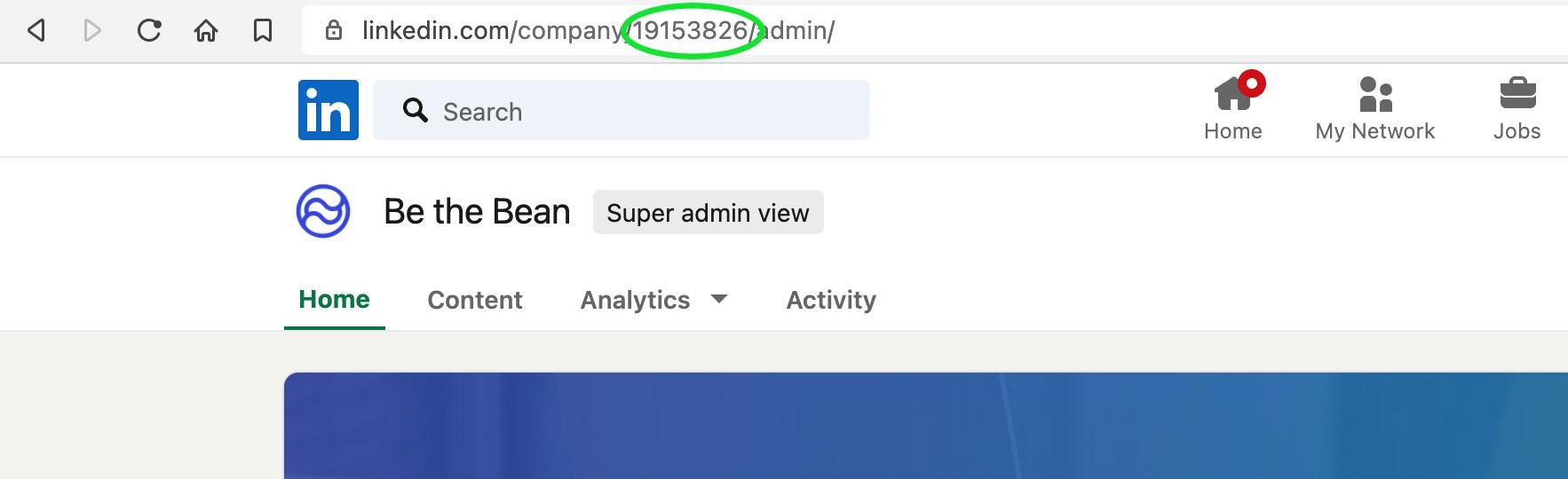 linkedin company id