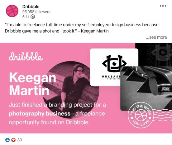 dribble linkedin keegan post
