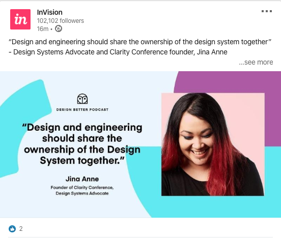 invision jina employee post