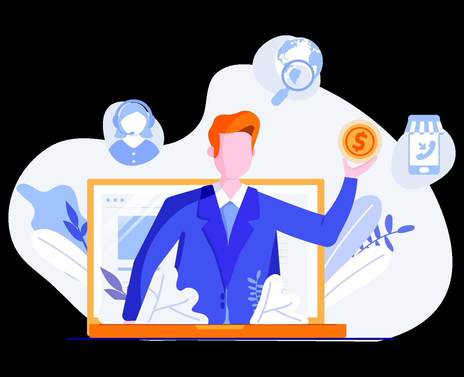 services content creation illustration