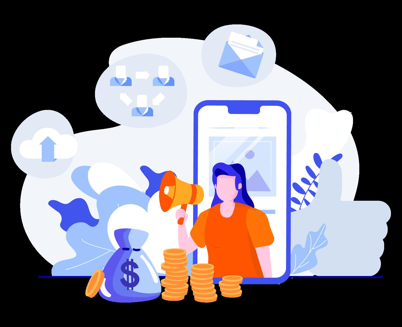 services social ads illustration