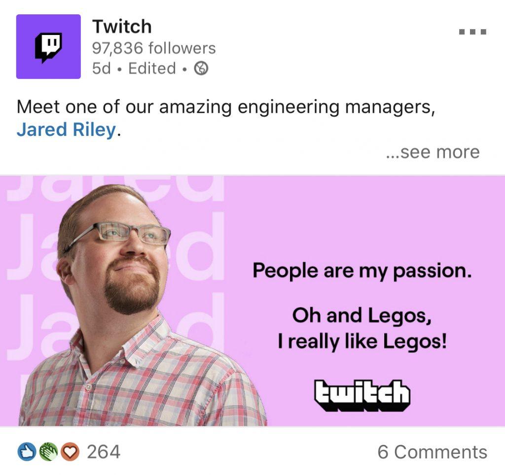 twitch employee spotlight